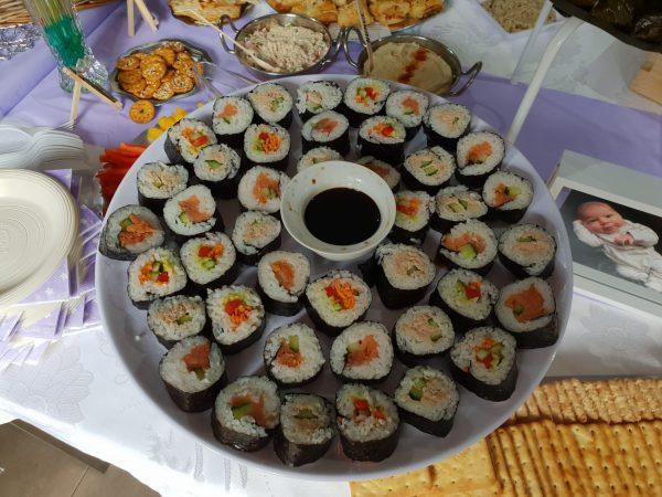 Kosher sushi platter
