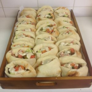 Kosher falafel pockets savoury kosher platter by Nifla Kosher Catering in Melbourne