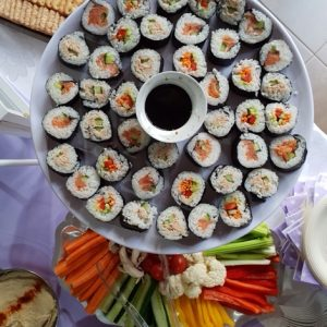A kosher sushi platter made by Nifla Kosher Catering in Melbourne